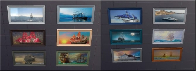 Sims 4 SHIPS Paintings at Sauris Sims4