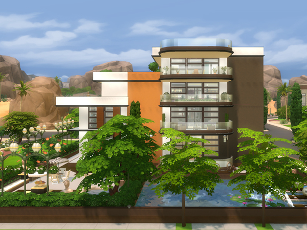 Daisy house by Danuta720 at TSR image 687 Sims 4 Updates
