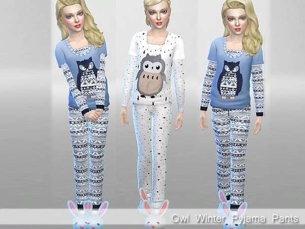 Winter Owl Pyjama Set by Pinkzombiecupcakes at TSR image 690 Sims 4 Updates