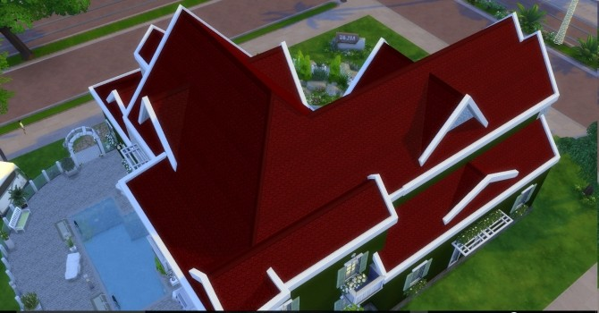Sims 4 Fish Scale Roof by AdonisPluto at Mod The Sims