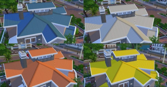 Sims 4 Dynamic Zinc Roof by AdonisPluto at Mod The Sims