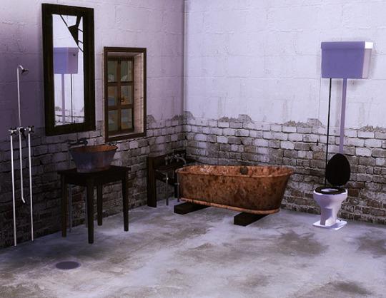 Sims 4 Lisen's Budget Bathroom TS3 TS4 conversion at Sanoy Sims