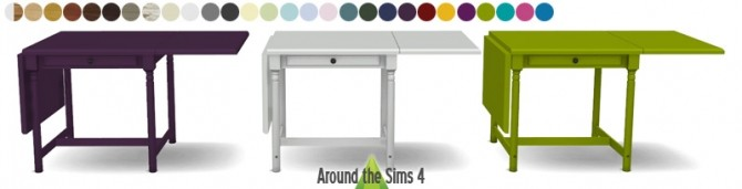 Ikea folded furniture by sandy at around the sims 4 sims 4 updates - Table cuisine pliante ikea ...