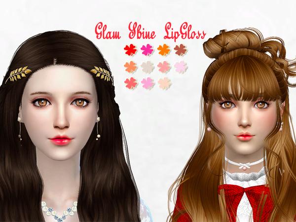 Sims 4 Glam Shine Lipgloss by SakuraPhan at TSR
