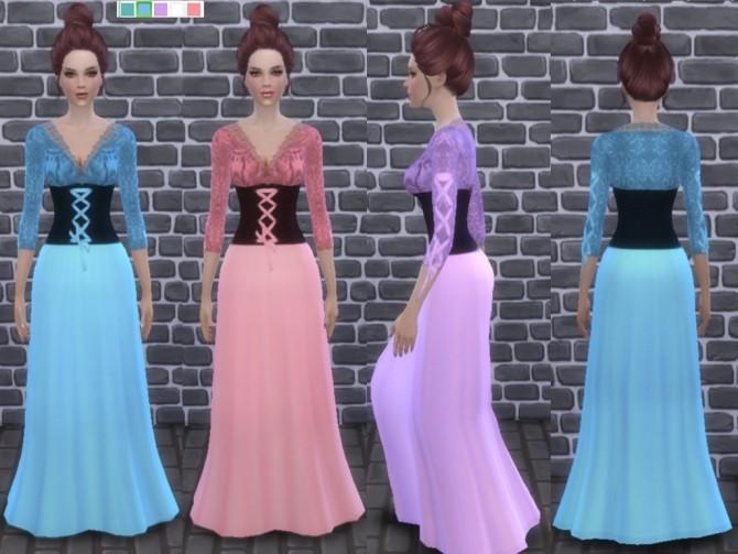 Sims 4 Medieval dress at Tatyana Name