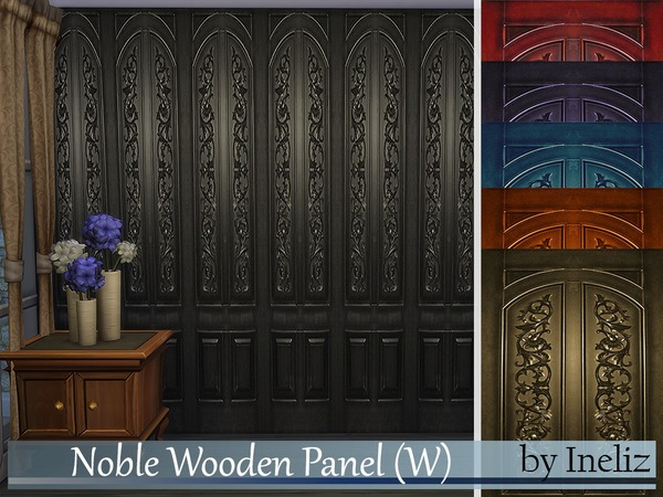 Noble Wooden Panel (W) by Ineliz at TSR image 7112 Sims 4 Updates