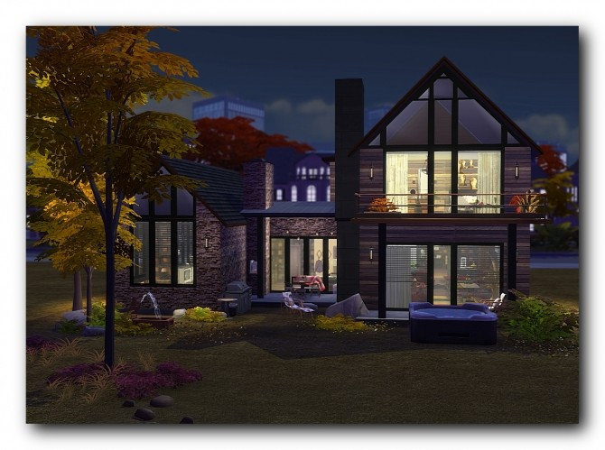 Sims 4 Hillside house at Architectural tricks from Dalila