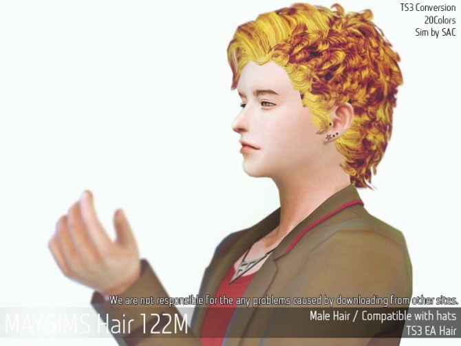 Sims 4 Hair 122M (Sac) at May Sims