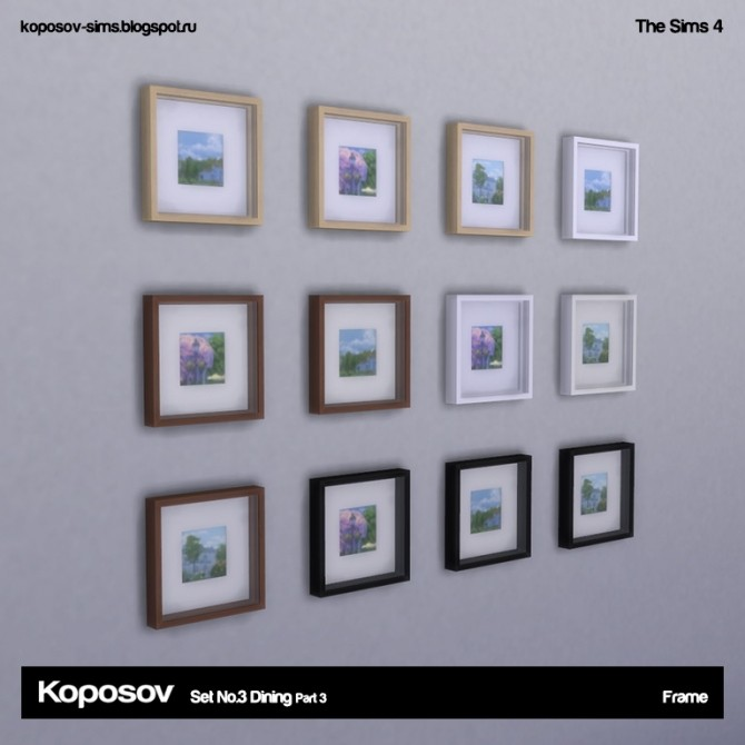 Set No.3 Dining Part 3 at Koposov image 722 670x670 Sims 4 Updates