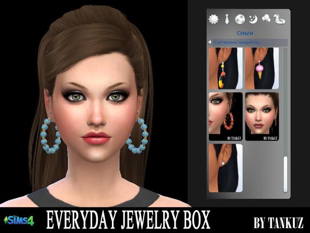 Sims 4 Everyday Jewelry Box   Earrings 02 at Tankuz Sims4