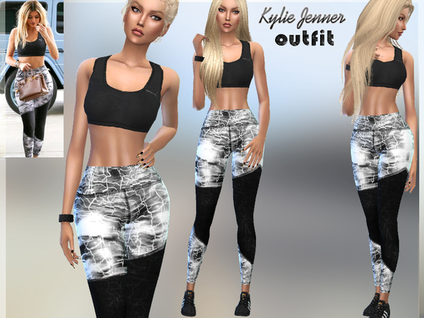 Sims 4 Kylie Jenner Outfit by Puresim at TSR