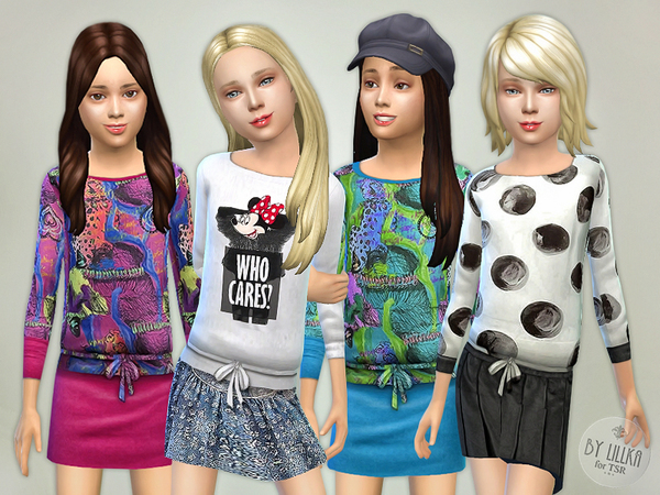 Sims 4 Designer Outfits Collection P01 by lillka at TSR