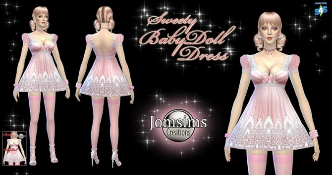 Sims 4 Sweety babydoll dress at Jomsims Creations