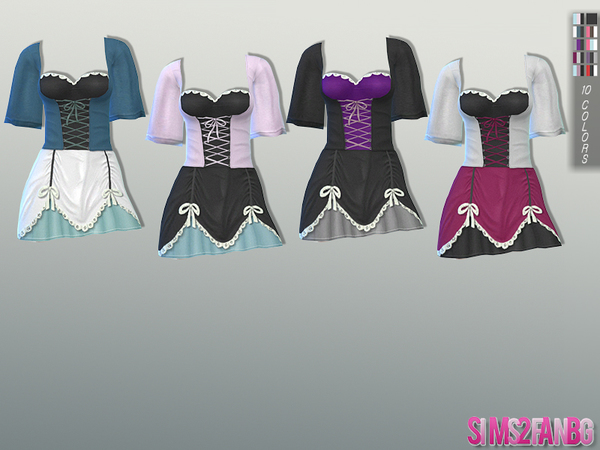 Halloween Corset Costume by sims2fanbg at TSR image 77 Sims 4 Updates