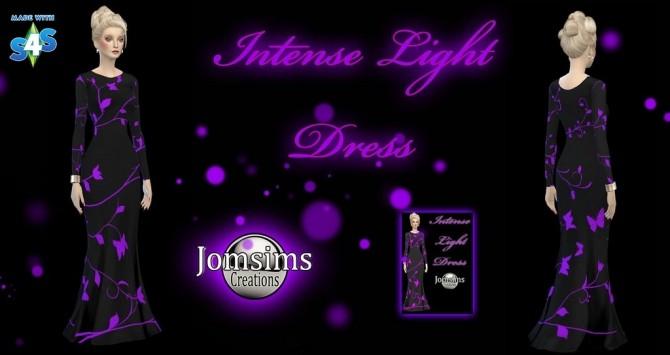 Sims 4 Intense light dress at Jomsims Creations