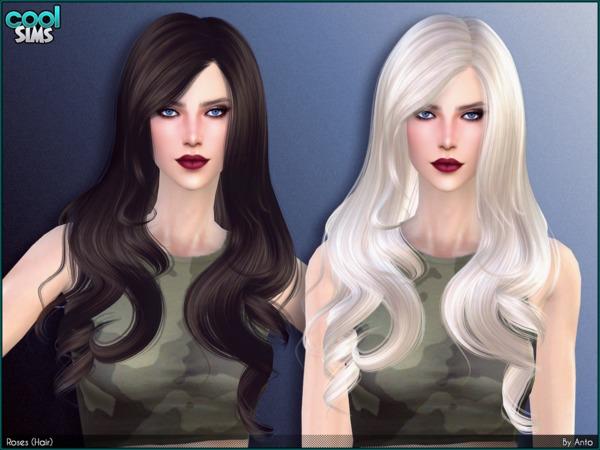 Sims 4 Roses Hair by Anto at TSR