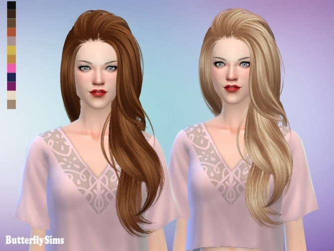 Sims 4 B fly AF 170Ki hair (Pay) at Butterfly Sims