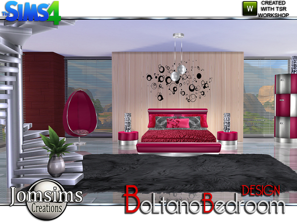 Boltano design bedroom by jomsims at tsr sims 4 updates for Bedroom designs sims 4