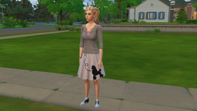 Sims 4 50s Style Poodle Skirt by Zahkriisos at Mod The Sims