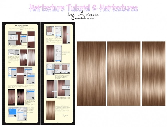 Sims 4 Hair Texture Tutorial & Hairtextures at Aveira Sims 4