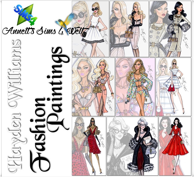 Hayden Williams Fashion Paintings at Annett's Sims 4 Welt image 8314 Sims 4 Updates