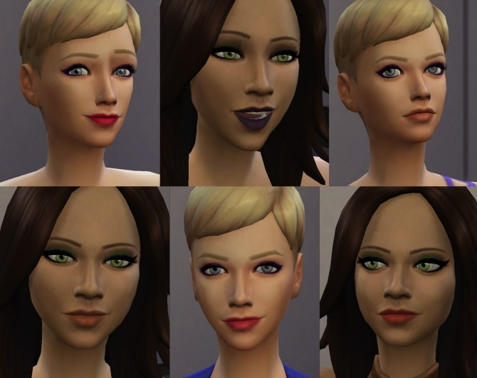 Sims 4 Light and Dark Lipsticks by Kitty25939 at Mod The Sims