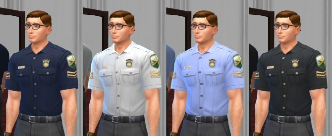 Sims 4 Simple Police Shirts by VentusMatt at Mod The Sims