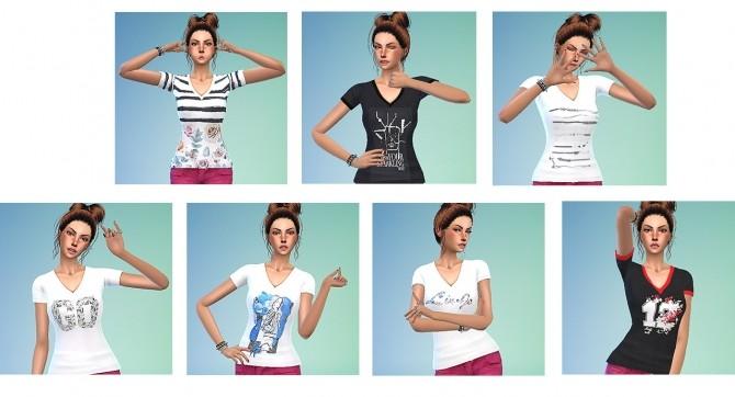Sims 4 VNeck T Shirt recolors at Gisheld