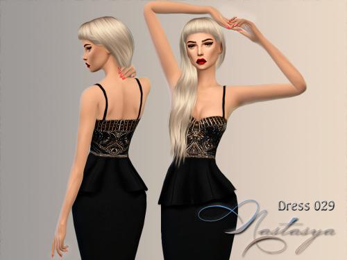 Sims 4 Dress Sue Wong Sleeveless Beaded Peplum 029 at Nastasya94