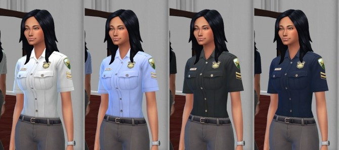 Simple Police Shirts by VentusMatt at Mod The Sims image 8616 670x298 Sims 4 Updates