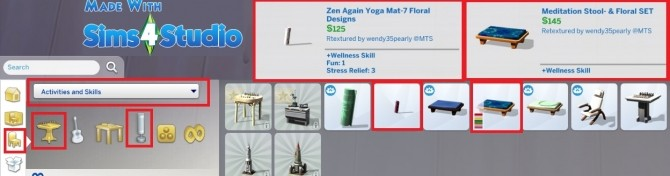 Sims 4 Meditation Stool and Zen Yoga Mat by wendy35pearly at Mod The Sims
