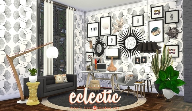 Mid Century Eclectic Object Set at Simsational Designs  : 8716 670x389 from sims4updates.net size 670 x 389 jpeg 96kB