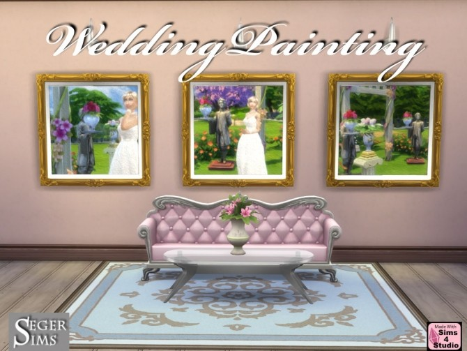 Sims 4 Wedding 3 Paintings in 1 at Seger Sims