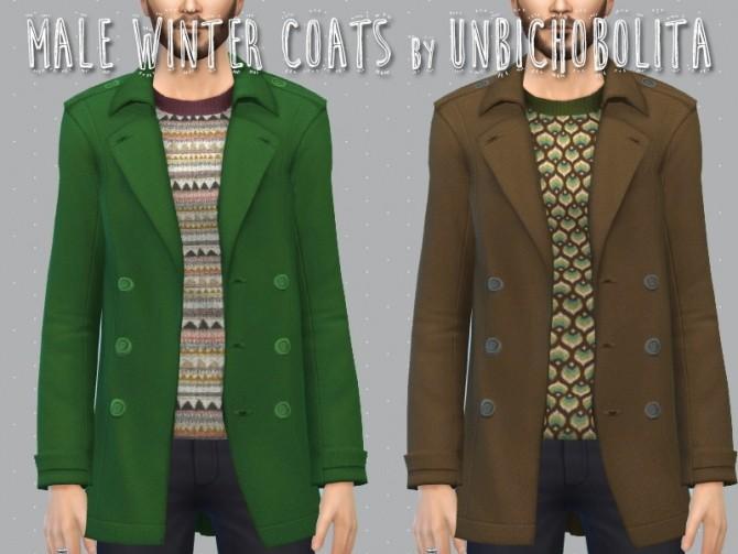 Sims 4 Male winter coats at Un bichobolita