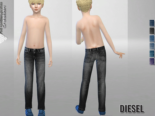 Sims 4 PZC Jeans for Kids by Pinkzombiecupcakes at TSR