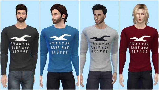 Sims 4 Coastal Long Sleeve Shirt at The Sims 4 ID