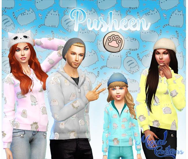 Sweatshirt Pusheen At Victor Miguel 187 Sims 4 Updates