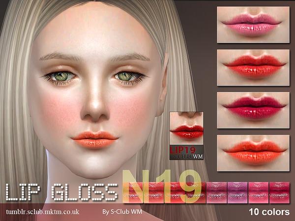 Sims 4 Lipstick 19 by S Club WM at TSR