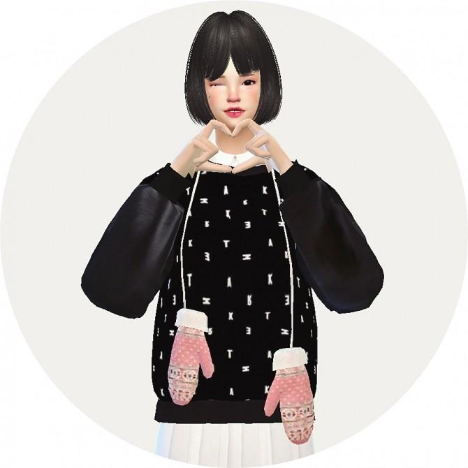 Sims 4 Female hang neck mittens at Marigold