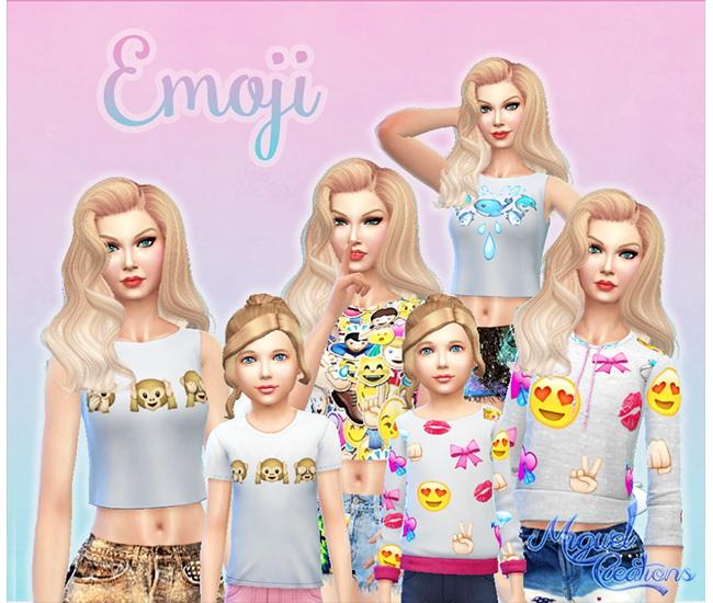Sims 4 Emojis Shirts at Victor Miguel