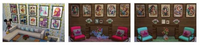 Sims 4 Princess paintings collection at Victor Miguel