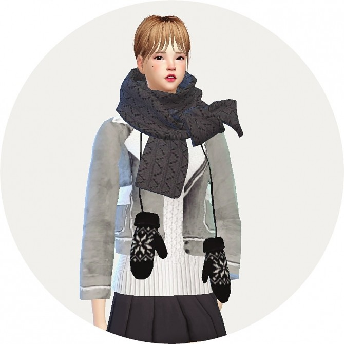 Female hang neck mittens at Marigold image 9224 670x670 Sims 4 Updates