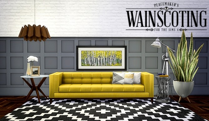 Peacemakers 3D Wainscoting at Simsational Designs image 9424 670x389 Sims 4 Updates