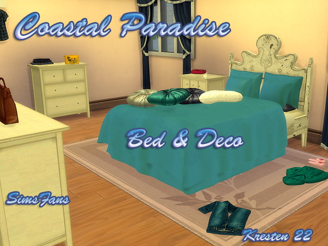 Coastal Paradise Bed & Deco by Kresten 22 at Sims Fans image 945 Sims 4 Updates