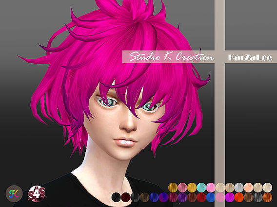 Sims 4 Animate hair 33Carl at Studio K Creation