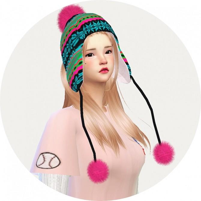 Sims 4 Ear flap hat at Marigold