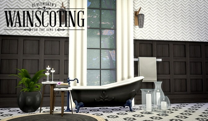 Peacemakers 3D Wainscoting at Simsational Designs image 9523 670x389 Sims 4 Updates