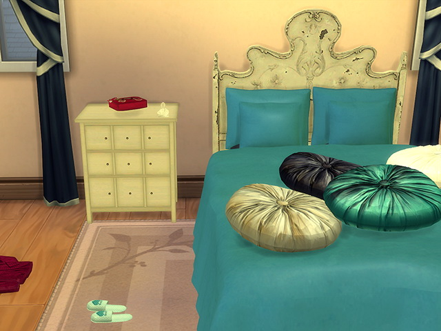 Coastal Paradise Bed & Deco by Kresten 22 at Sims Fans image 955 Sims 4 Updates