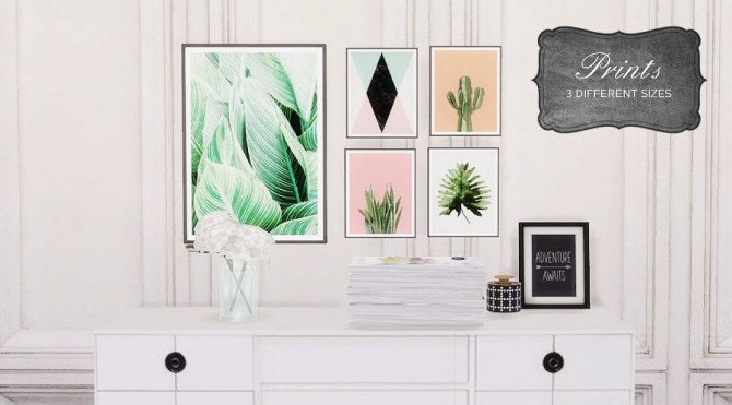 Sims 4 COLORFUL PRINTS at MIO