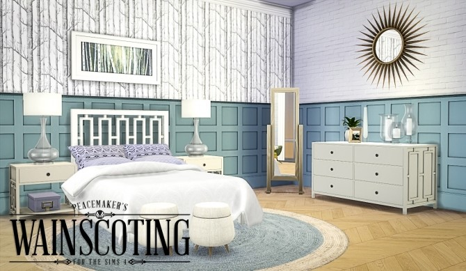 Sims 4 Peacemakers 3D Wainscoting at Simsational Designs